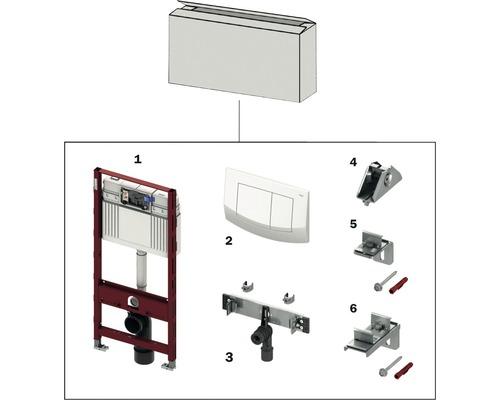 Kit de démarrage TECEprofil module WC avec plaque d''actionnement et unité de lavabo 9850016