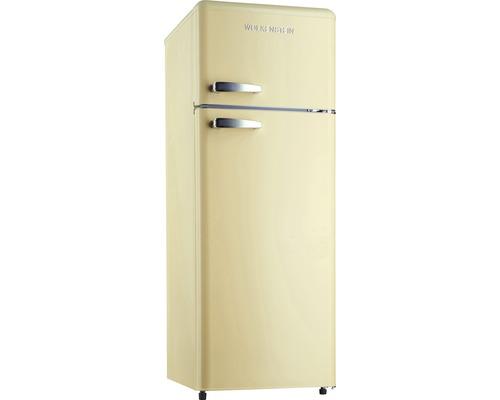 Réfrigérateur-congélateur Wolkenstein GK212.4RT SC crème lxhxp 54.5 x 145.6 x 62.6 cm compartiment de réfrigération 172 l compartiment de congélation 39 l