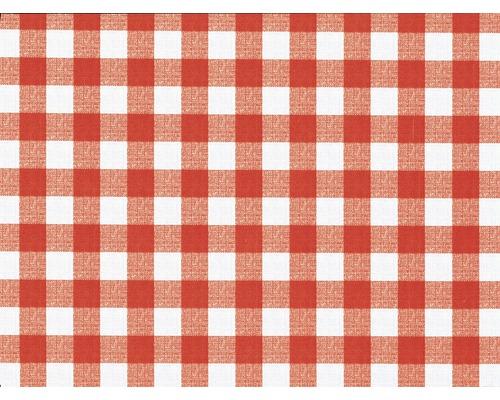 Nappe Avanti rouge-blanche largeur 140cm (marchandise au mètre)