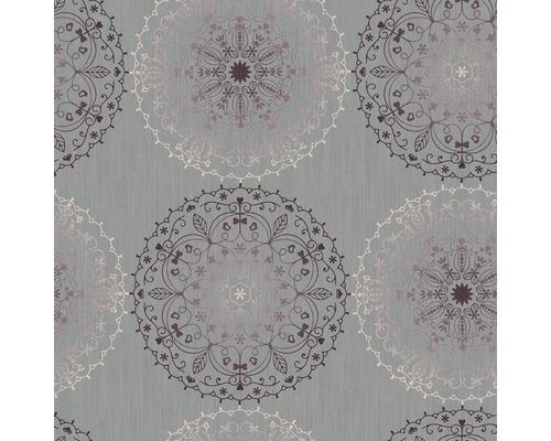 Nappe en toile cirée Monte Carlo Charlene gris 110x140 cm