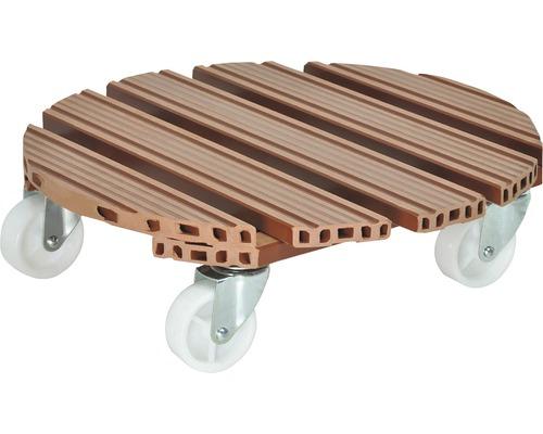 Chariot de plante WPC Ø38,5cm terre cuite charge 200kg
