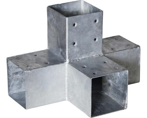 Steckberbinder TYP X für Pfosten 9 x 9 cm, feuerverzinkt