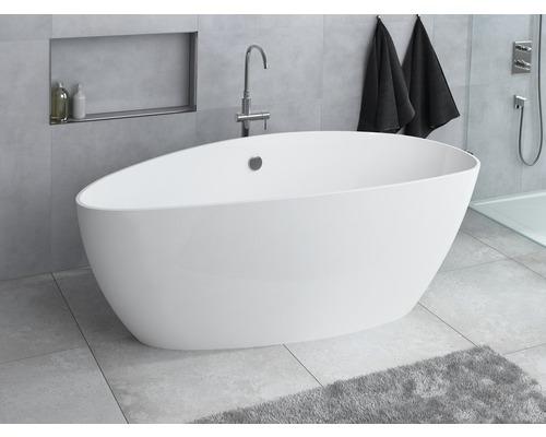 Baignoire indépendante Ria 157x70 cm droite blanche
