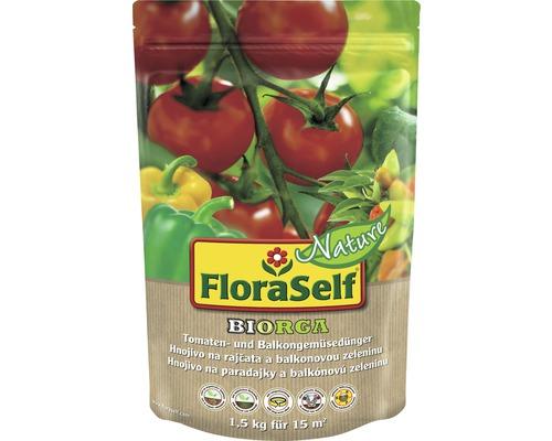 Engrais pour tomates et légumes de balcon FloraSelf Nature BIORGA engrais organique 1,5 kg