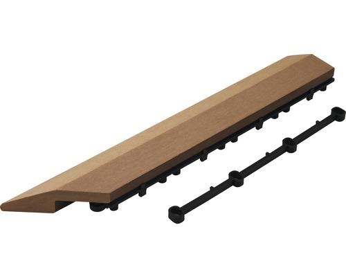 Élément latéral WPC droite Konsta dalle à clipser 37x7x2.8cm marron