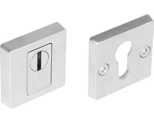 Rosace de protection carrée acier inoxydable pour cylindre profilé hxl 54/54mm 1 paire