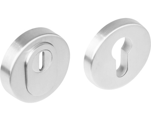 Rosace de protection ronde acier inoxydable anti-effraction pour cylindre profilé Ø 55 mm différent