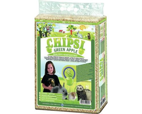 Litière pour animaux domestiques JRS Chipsi plus Green Apple 3,2 kg
