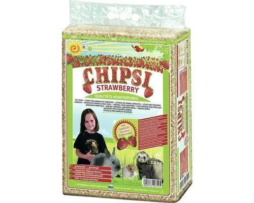 Litière pour animaux de compagnie JRS Chipsi plus Strawberry 3,2kg