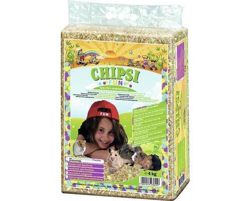 Litière pour animaux de compagnie JRS Chipsi Fun 4kg
