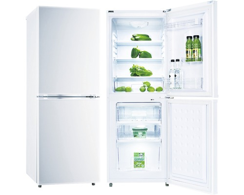 Réfrigérateur-congélateur PKM KG 218.4A++ blanc lxhxp 56.2 cm x 143 cm x 49.50 cm compartiment de réfrigération 122 l compartiment de congélation 53 l