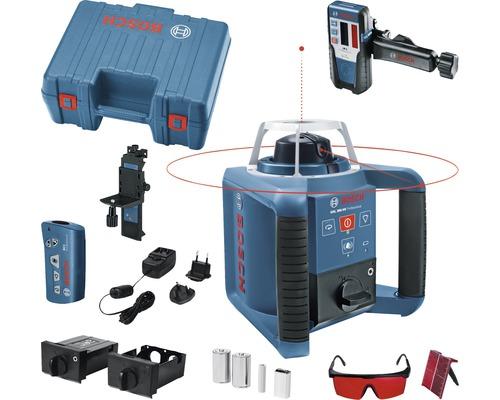 Laser rotatif Bosch Professional GRL 300 HV coffret de transport, accessoires et kit d''accessoires inclus