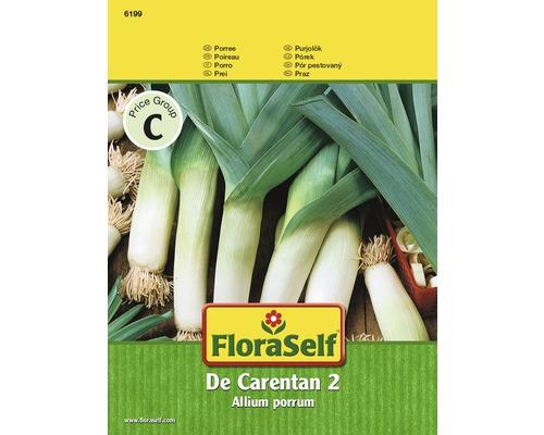 Semences de légumes FloraSelf, graines de poireau «De Carentan 2»