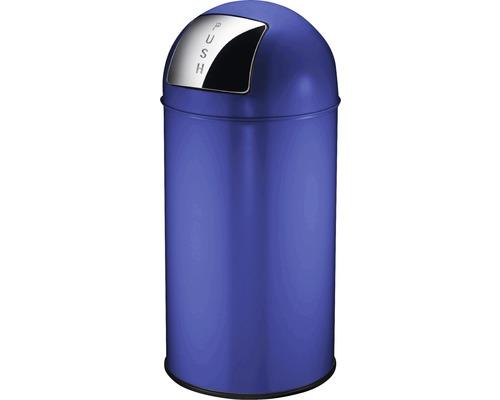 Poubelle à couvercle basculant Pushcan 40 litres bleu