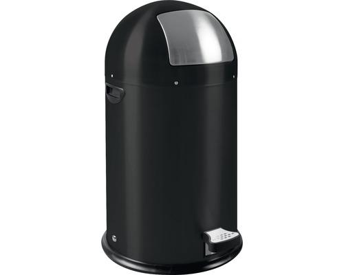 Poubelle à pédale 33 litres noir mat