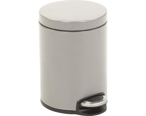 Poubelle à pédale Serene 5 litres grise