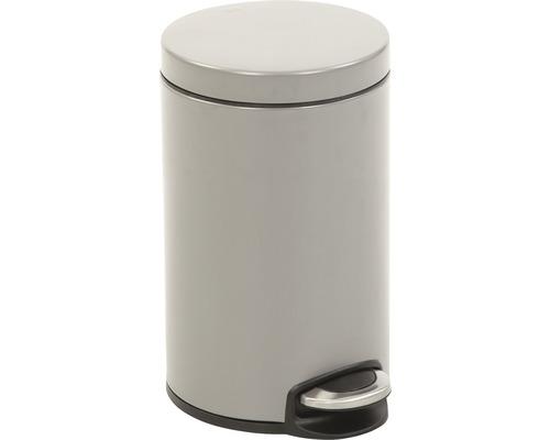 Poubelle à pédale Serene 12 litres platinium