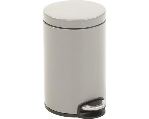 Poubelle à pédale Serene 20 litres platinium