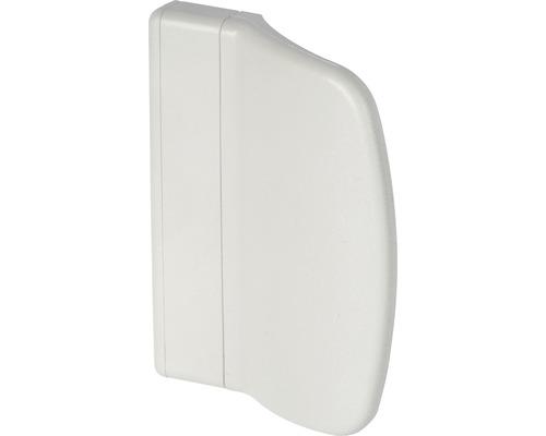 Poignée de porte de balcon plastique blanc plat