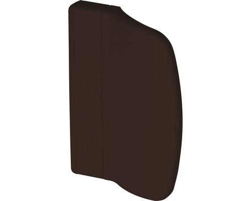 Poignée porte de balcon plastique brun plat