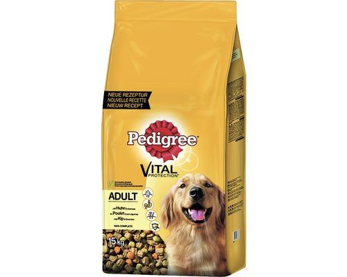 Hundefutter trocken, Pedigree Adult Huhn & Gemüse 15 kg