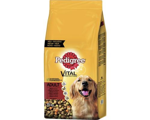 Hundefutter trocken, Pedigree Adult Rind & Gemüse 15 kg