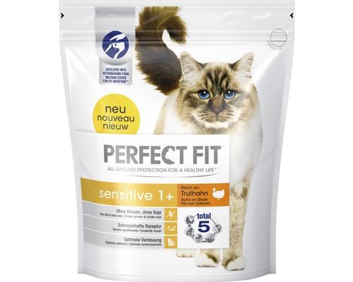 Nourriture sèche pour chats, Perfect Fit sensitive 1+ riche en dinde 1,4 kg