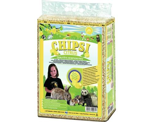 Litière pour petits animaux domestiques JRS Chipsi Citrus 3,2 kg