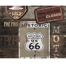 Panneau Pancarte Pop.up USA marron-thumb-0
