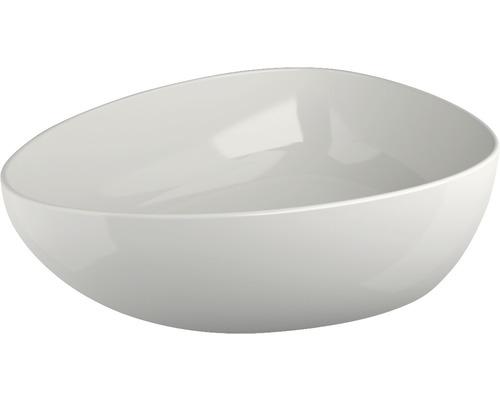 Lavabo à poser Jungborn Eire 47 cm avec bonde d''écoulement en céramique blanche