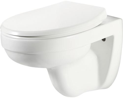Kit WC suspendu form & style Bandos avec bord de lavage ouvert blanc avec abattant