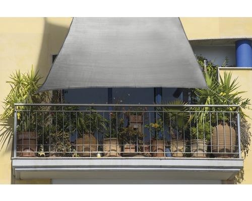 Voile d'ombrage rectangulaire pour balcon gris 140x270cm