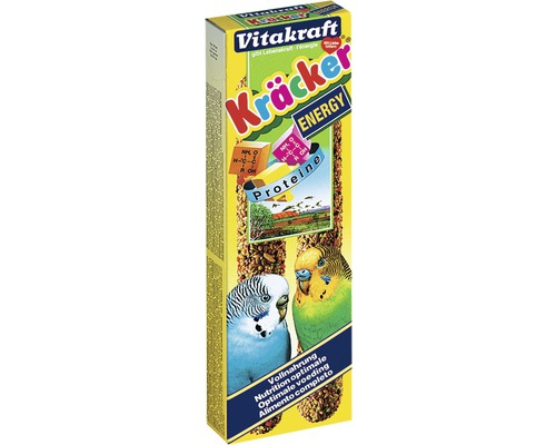 Friandise pour oiseau Vitakraft Kräcker® Energy, 2 pièces, 60g