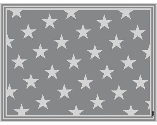 Tapis en vinyle mySPOTTI buddy Mini Star Grey S 85x65cm vitrostatique