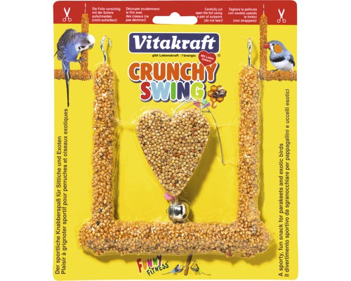 Friandise pour oiseau, Vitakraft For You Crunchy Swing perruche 1 pièce, 80g