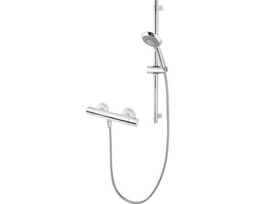 Set de tige de douche Schulte avec thermostat rond