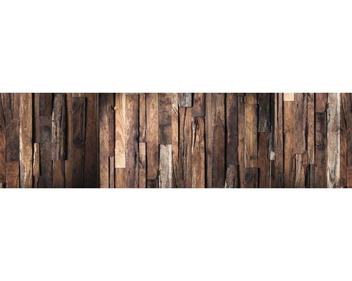 Film adhésif pour paroi arrière de cuisine mySPOTTI splash Rustical Wood 220x60cm