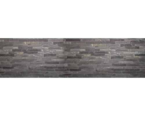 Film adhésif pour paroi arrière de cuisine mySPOTTI splash Black Bricks 220x60cm