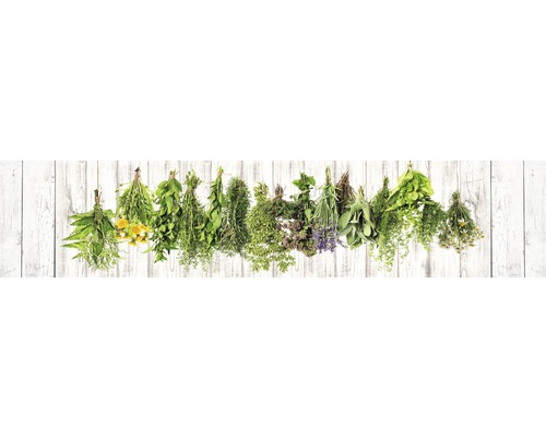 Film adhésif pour paroi arrière de cuisine mySPOTTI splash Hanging Herbs 280x60cm