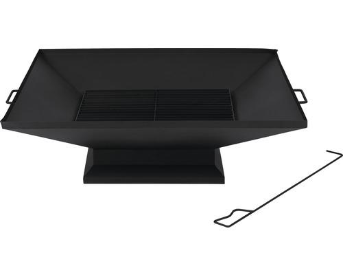 Bac foyer Tepro Penfield acier 79,8x91x25,8cm noir