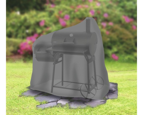 Housse de protection Tepro pour fumoir ovale moyen 73,7x125,7x119,4 cm polyester noir