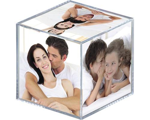 Cube photo transparent 6x 8,5x8,5 cm