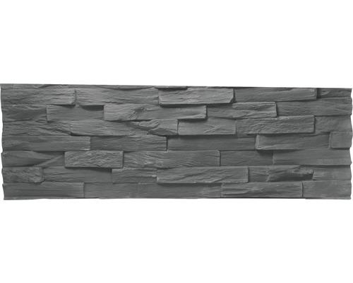 Pierre de parement Klimex UltraFit Benevento gris avec bords rectifiés