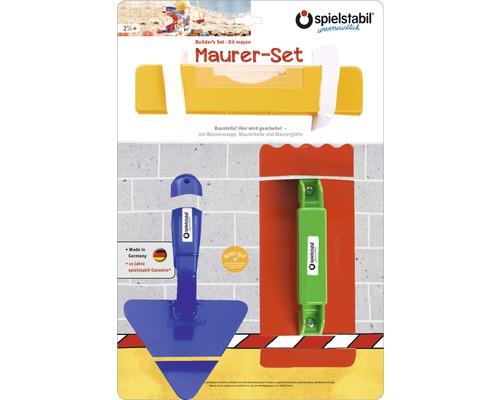 Kit du maçon pour enfants spielstabil 3 pièces couleurs assorties