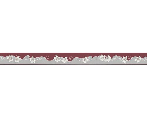 Frise Only Borders 996211-2 rouge gris 5 m x 5 cm