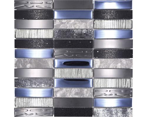 Mosaïque en verre NIGHT 58X MIX MULTICOLORE 29,8x29,8cm