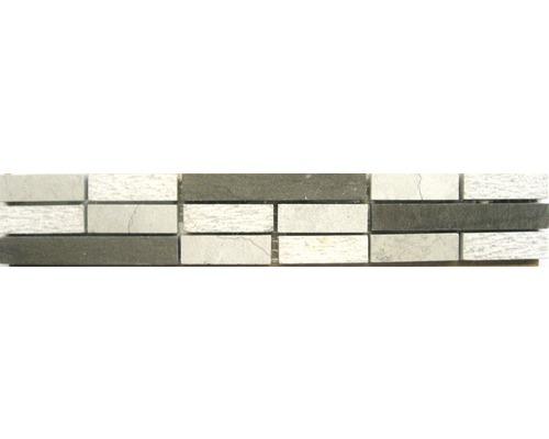 Frise en pierre naturelle Sticks grey 5,0x30,0cm