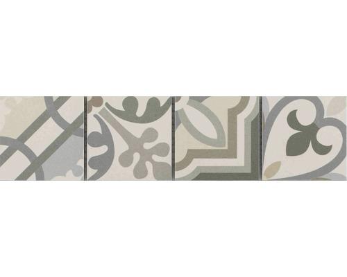 Frise en céramique Patchwork grey 7,7x31,8cm