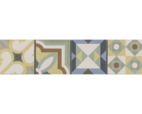 Frise en céramique Patchwork mix 7,7x31,8cm