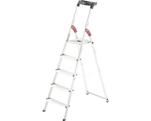 Hailo L60 - escabeau de sécurité en aluminium, 5 niveaux